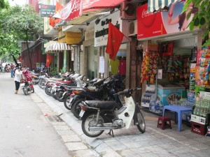 12.MotorbikesParkedOnSidewalk