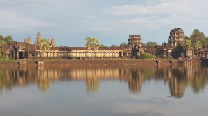 Angkor Wat West Gate at Sunset