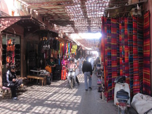 Many kilometers of alleys just like this in the Marrakech medina.