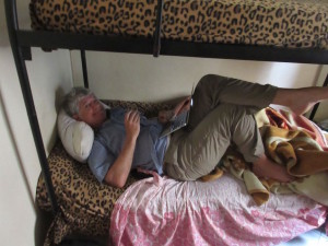 This is what a family homestay looks like.  I took over the 20 yr old's bed!